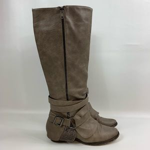 Not rated boots women's size 10 riding taupe